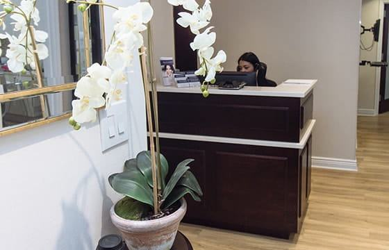 New York Midtown Cosmetic Dentists office front desk
