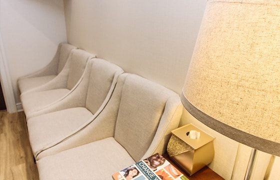 Comfortable seating at the office of Midtown Dental Excellence, a cosmetic dentist office